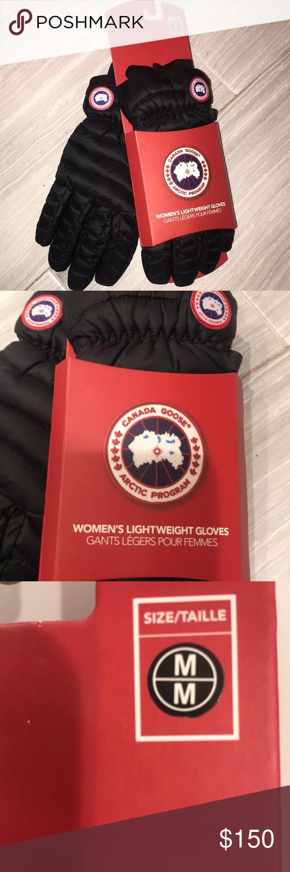 e28288554aa0 Canada Goose gloves Black Canada goose women s gloves   size medium M 6.5-7