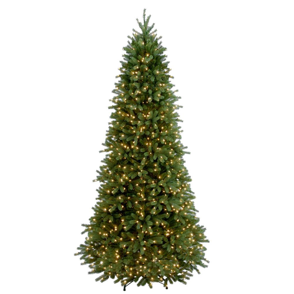 National Tree Company 9 Ft Feel Real Jersey Frasier Fir Slim Hinged Artificial Christmas Tree With Clear Lights Pejf1 304 90 The Home Depot Slim Artificial Christmas Trees Christmas Tree Clear Lights Fir