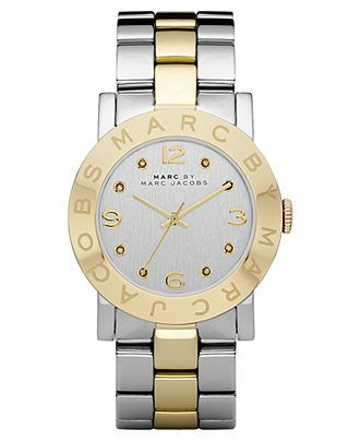Marc by Marc Jacobs Watch, Women's Amy Two Tone Stainless Steel Bracelet 36mm MBM3139 - Women's Watches - Jewelry & Watches - Macy's