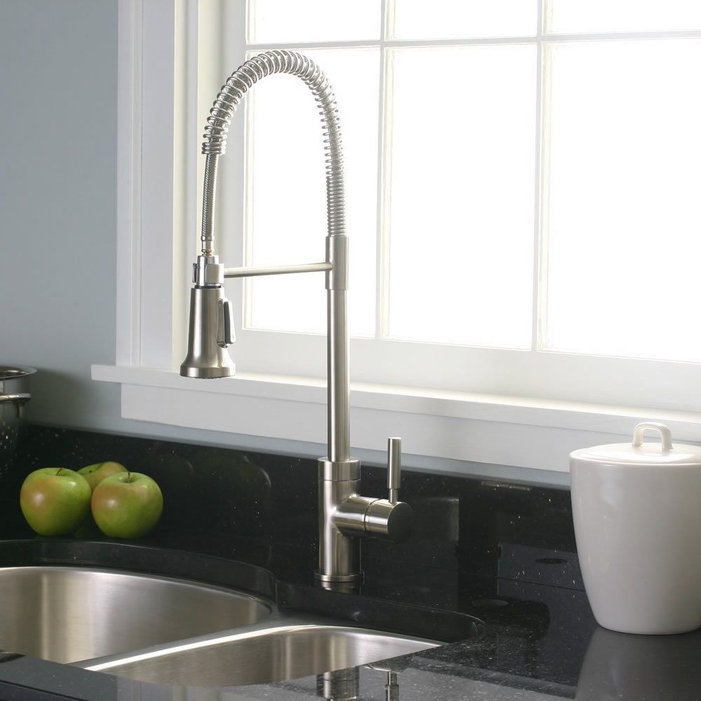 Premier Essen Pull Down Brushed Nickel Kitchen Faucet
