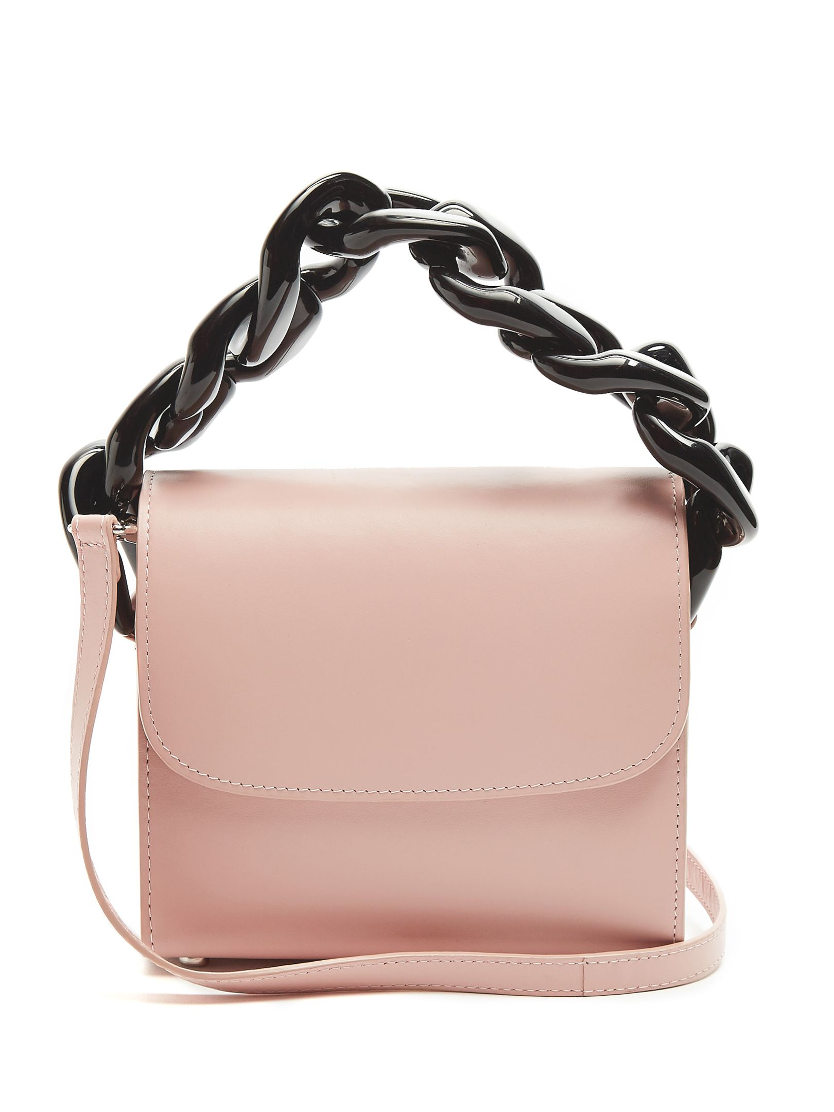 Marques Almeida Oversized Curb Chain Leather Shoulder Bag