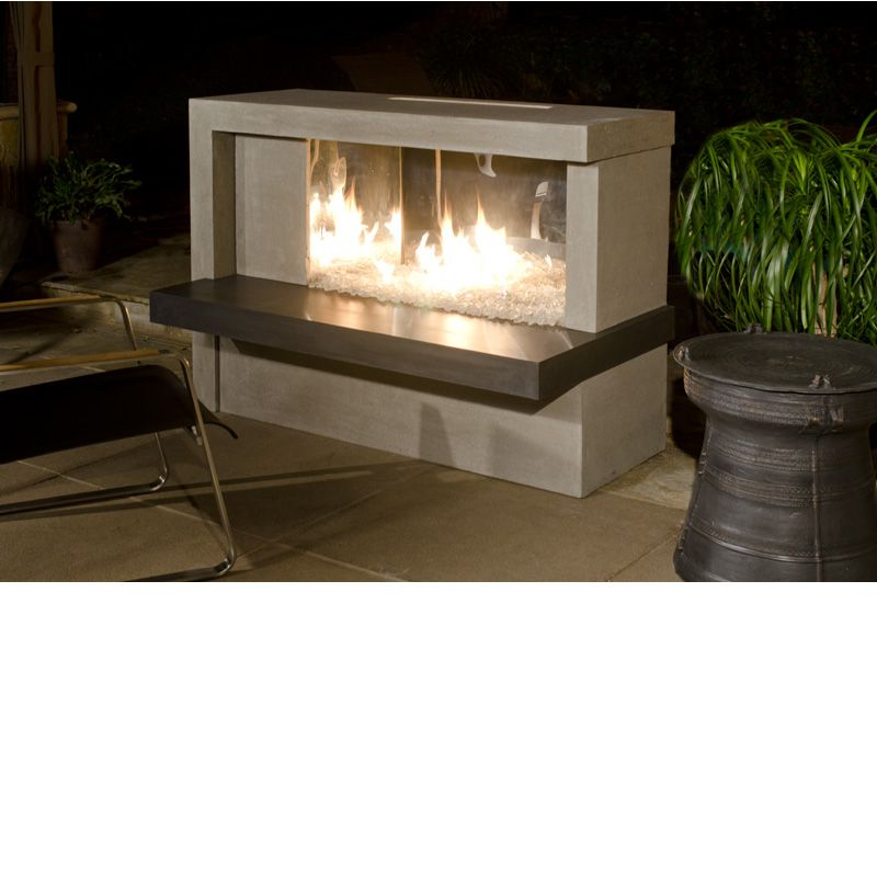 Manhattan fireplace w stainless steel box outdoor design for Foyer exterieur napoleon