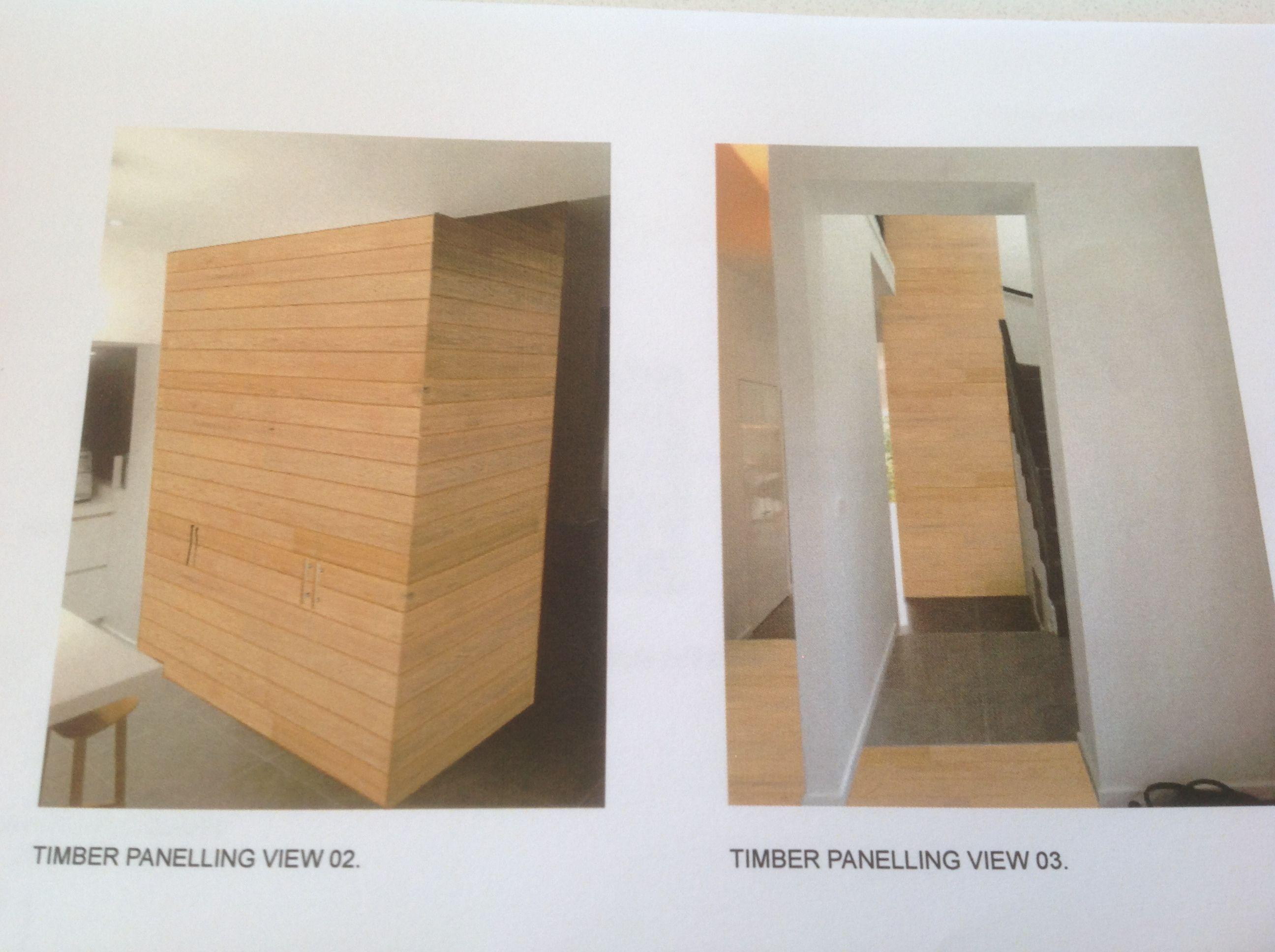 New timber wrap around kitchen wall area
