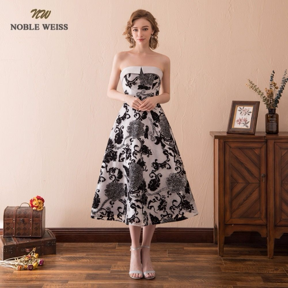 5be719f096f5 NOBLE WEISS Lace Prom Dress Tea-Length Junior School Evening Party Dress  New Style Sexy A-Line Special Occasion Dresses free shipping worldwide