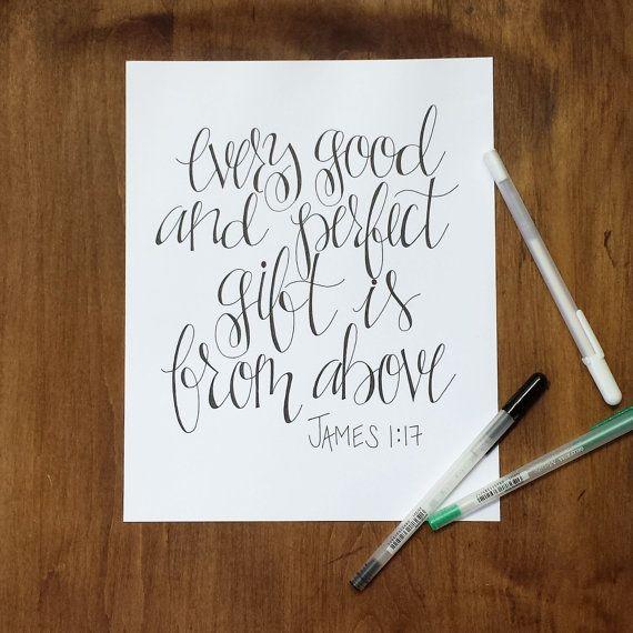 Custom handwritten hand lettering calligraphy print