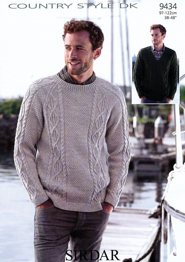 Sweaters in Sirdar Country Style DK - 9434   Sueter hombre, Suéteres ...