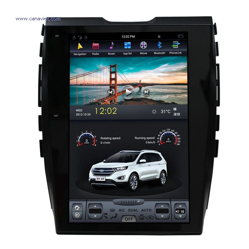 Ford Edge Head Unit Ford Edge Android Auto Gps Navigation Car Audio