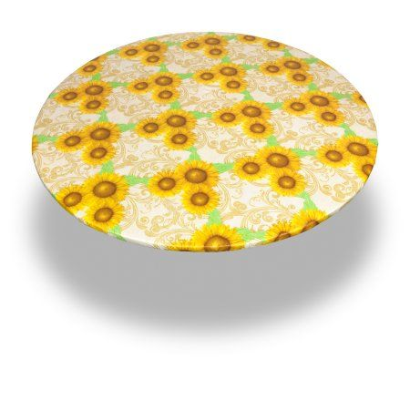 Carnation Home Fashions Sunflower 60 Round Vinyl Flannel Backed Tablecloth Walmart Com Vinyl Tablecloth Sunflower Colors Table Cloth