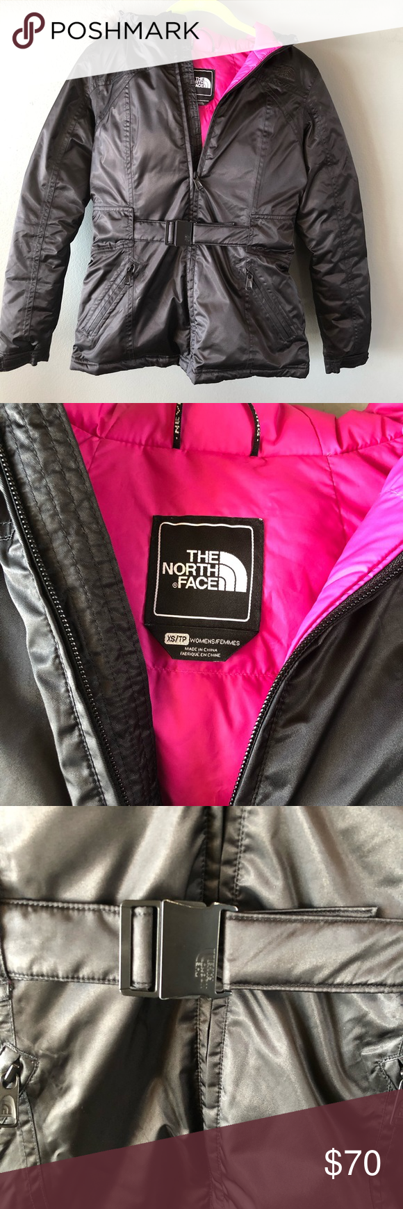 North Face Shiny Belted Jacket Belted Jacket Black North Face The North Face [ 1740 x 580 Pixel ]
