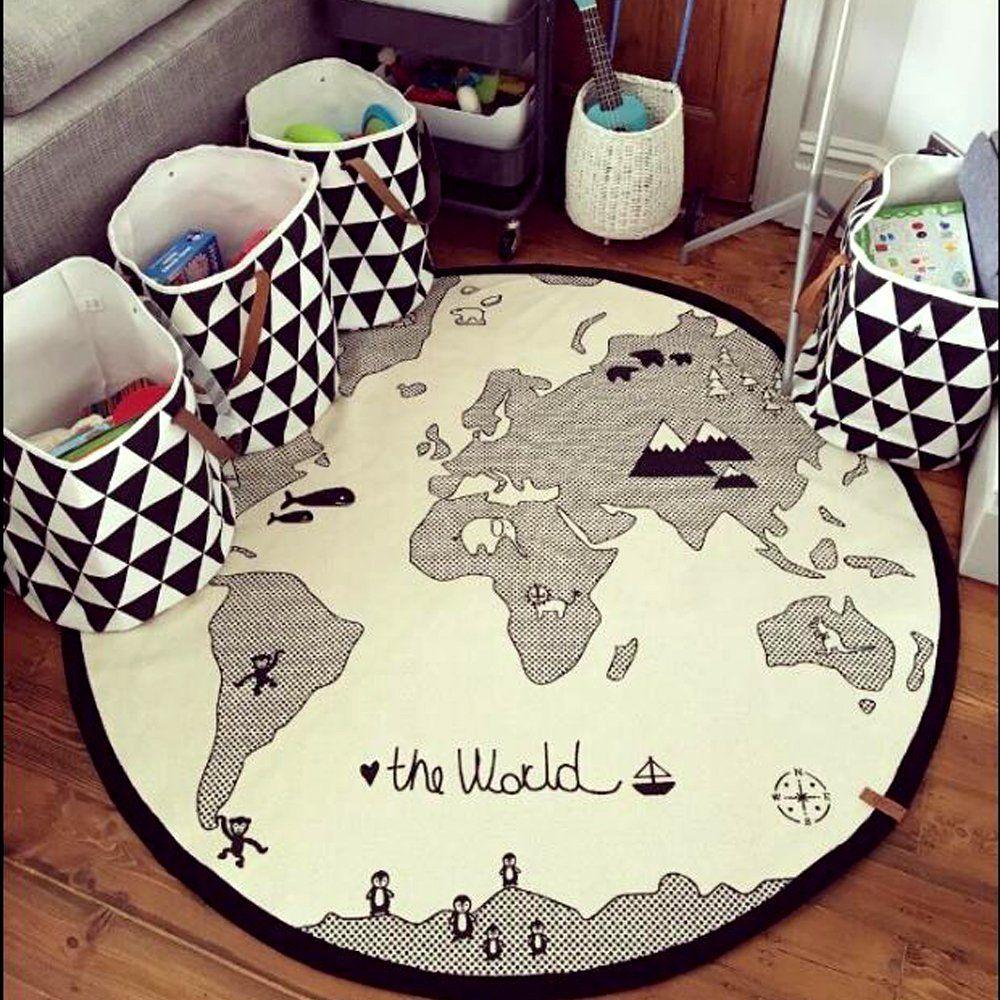World map baby nursery or kids playroom rug perfect for black and world map baby nursery or kids playroom rug perfect for black and white or travel nursery affiliate blackandwhite nurserydecor worldrug playmat gumiabroncs Images