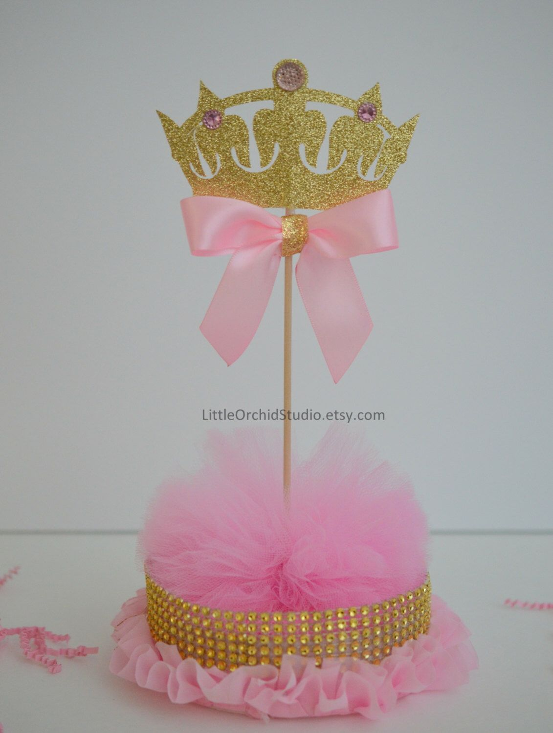 Princess Baby Shower/ Princess Birthday/ First Birthday/ Baby/ Its A Girl/  Princess Party/ Pink And Gold/ Centerpieces/ Baby Girl Shower