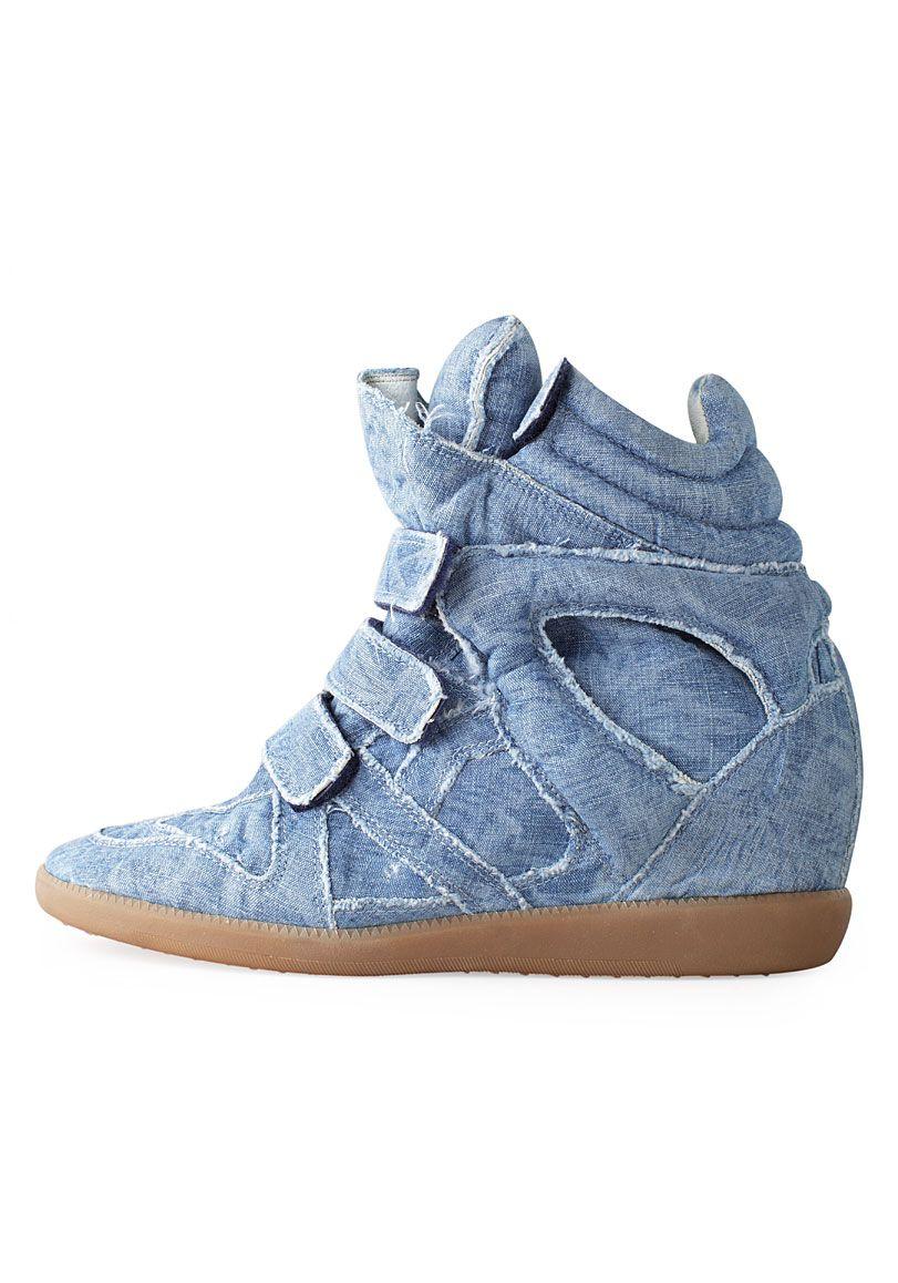 Isabel Marant / Balesi Velcro Denim Sneaker