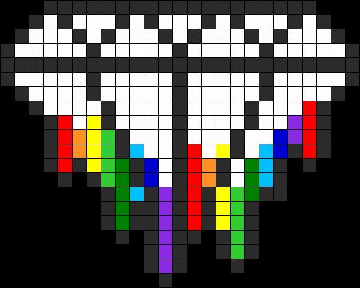 Diamond Melting Rainbow Perler Bead Pattern Bead Sprite