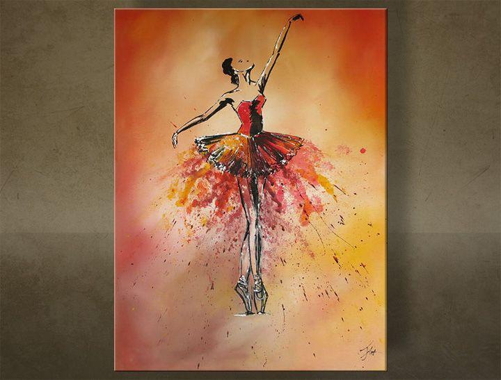 Ručne maľovaný obraz TANEČNICA 1 dielny 6213FA