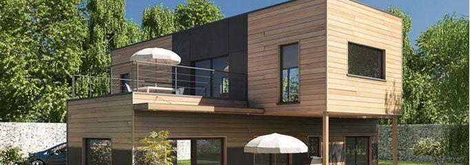 Petite maison contemporaine écologique de niveau passif