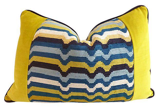 Miles 14x20 Velvet Pillow, Multi on OneKingsLane.com