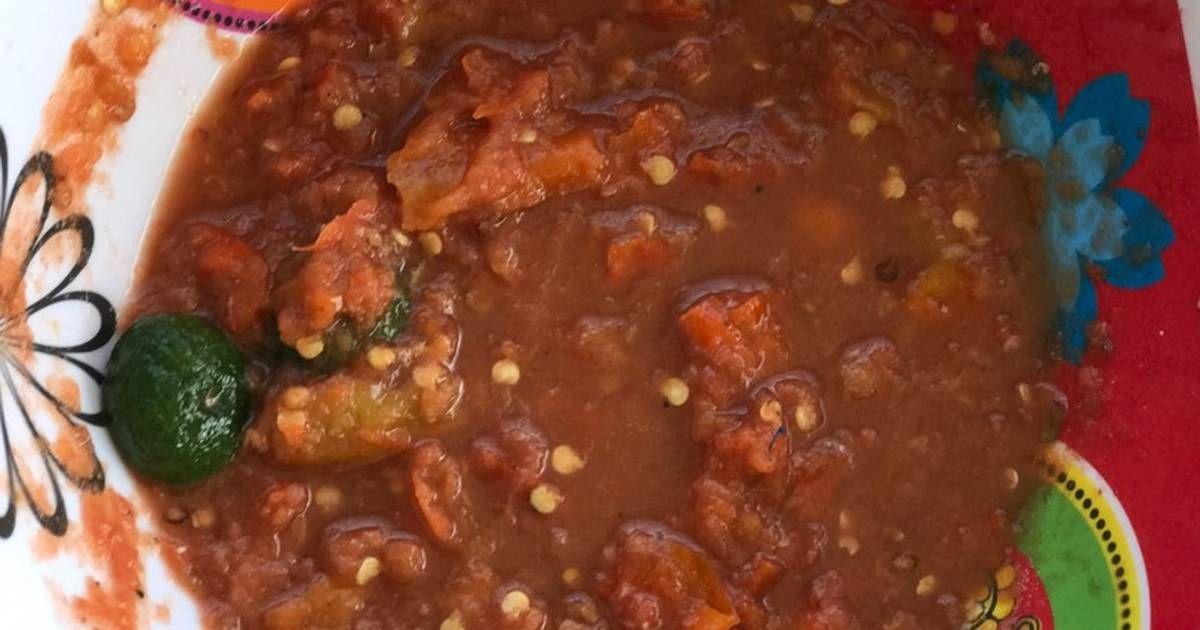 Resep Sambal Tomat Lalapan Oleh Clara Sarchan Indrawan Resep Makanan Pedas Makanan Resep
