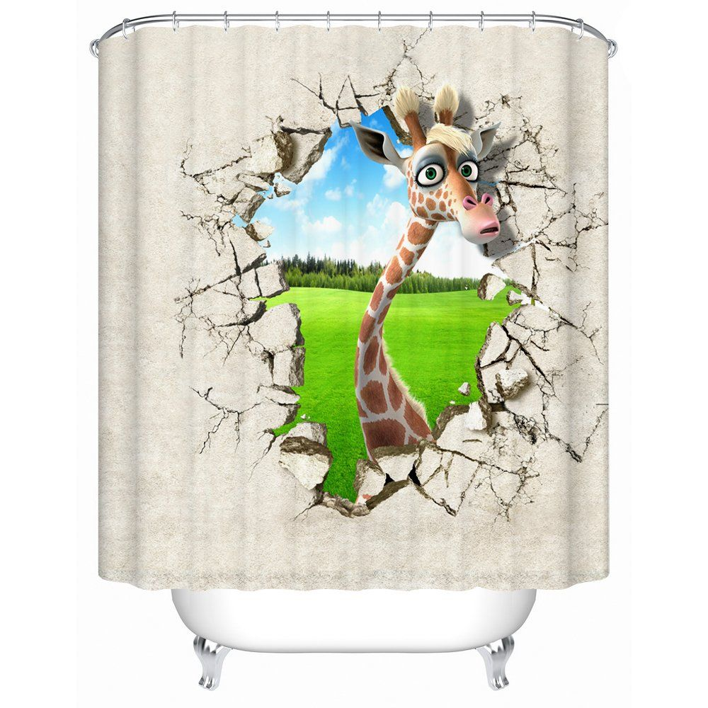 Amazon Com Sharp Shirter Slothzilla Shower Curtains 70 8 X 72