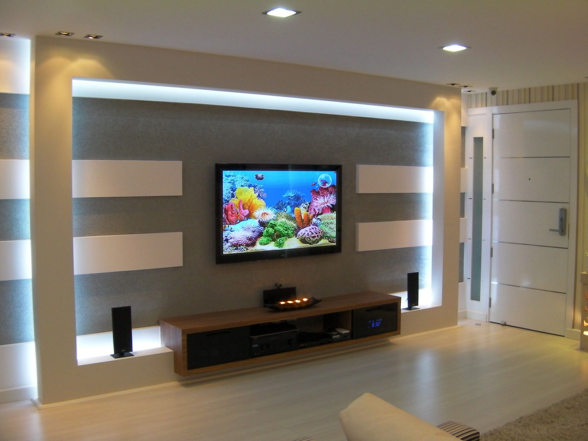 Living Room In A House I Designed In Bangkok Thailand Tv Wall