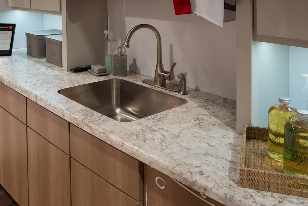 Laminate Countertop Edge Designs : Spring Carnival laminate with the cascade edge Wilsonart Laminate ...