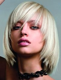 Blonde layered long bob  Michelle Lawley at Royston Blythe, Wolverhampton