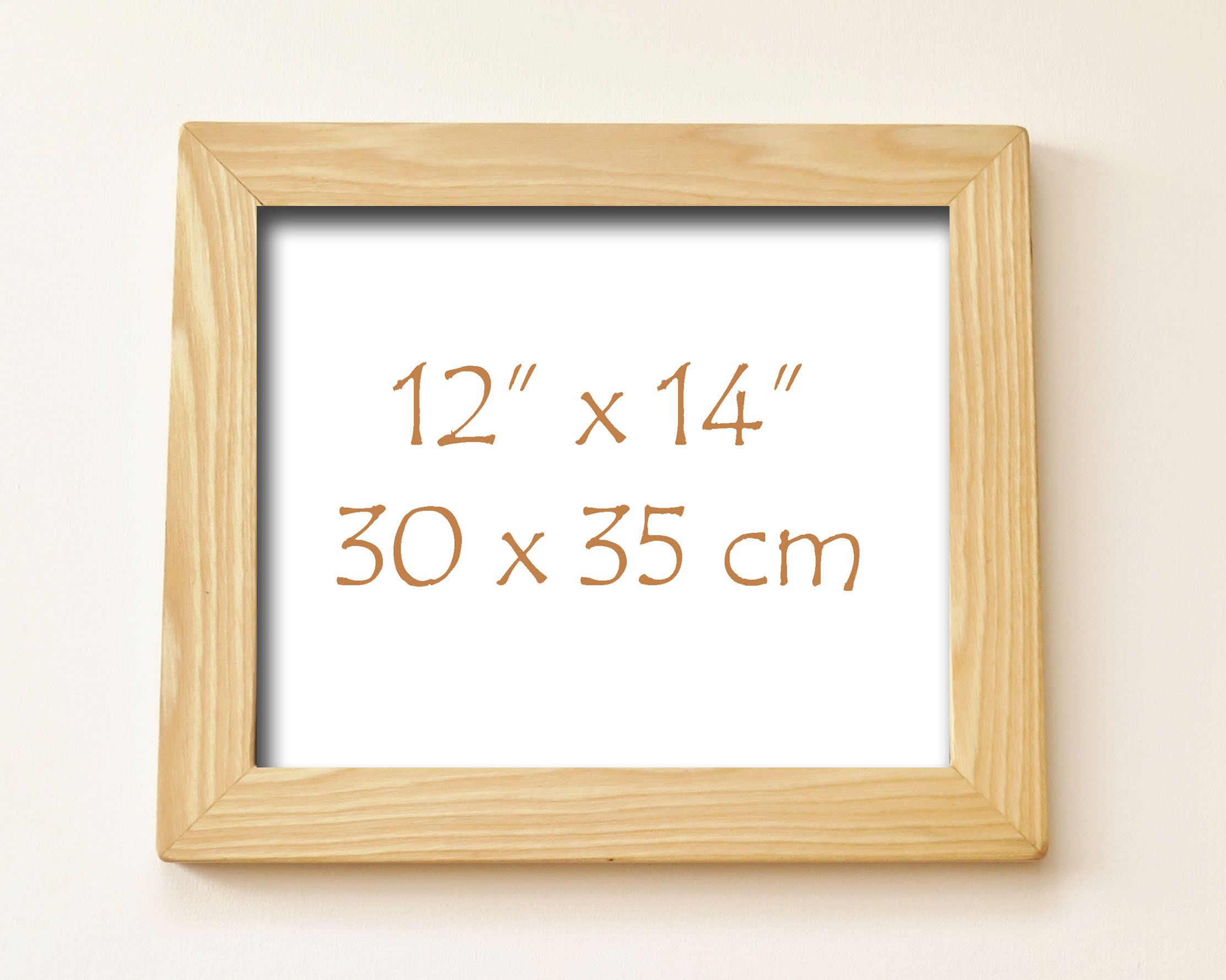 White Ash Wood Frame Handmade Picture Frame Made With Solid White Ash Wood 12 X 14 Wood Frame Handmade Picture Frames Wood Frame Ash Wood