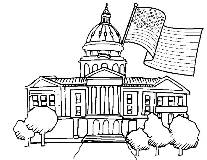Image Result For White House Coloring Page With Images House Colouring Pages Horse Coloring Pages Free Coloring Pages