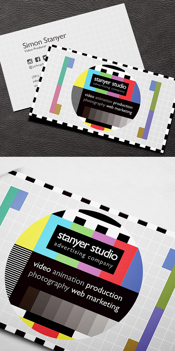 Video Producer Business Card Business Card Design Printing Business Cards Business Card Inspiration