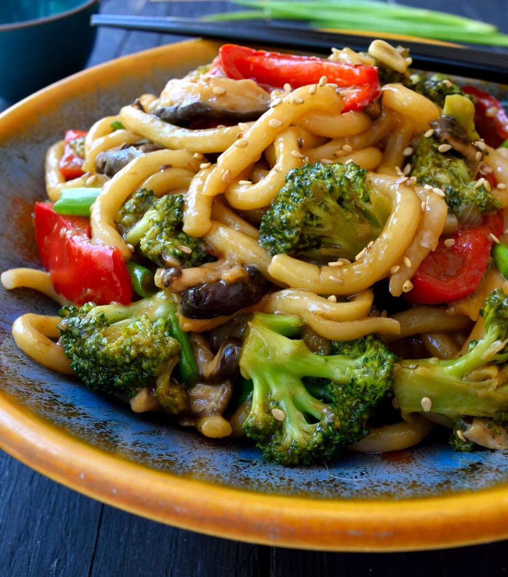 Vegetable Udon Stir Fry | Cilantro and Citronella