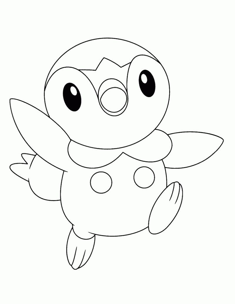Free Piplup Pokemon Coloring Pages Pokemon Coloring Pages Pokemon Coloring Penguin Coloring Pages