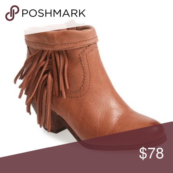 c41964f5359ca Leather tassel booties by Sam Edelman New with box A cascade of tassels  falls down to the heel of a chic ankle boot featuring a collar that can be  cuffed ...