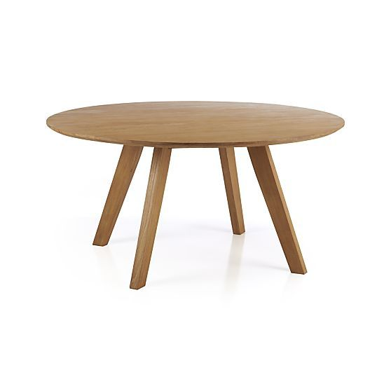 Cayman 60 Round Dining Table In New Furniture Crate And Barrel