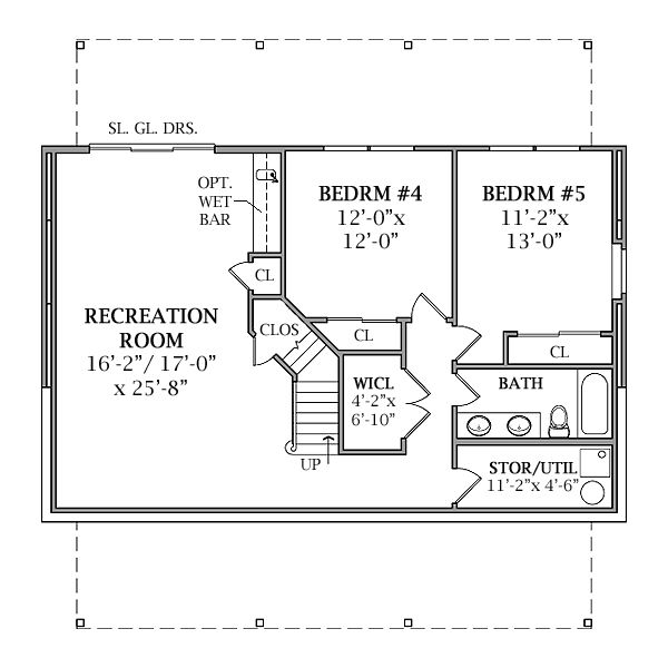 Optional walk out basement plan image of lakeview house for House plans with basement apartment