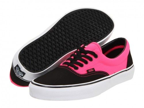 Vans Era Neon Black Pink Footwear Gym Shoes Sneakers Tennis Green ...