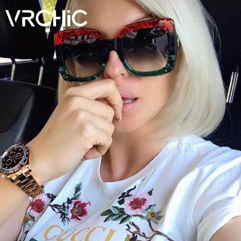 3b3682a9f0 VRCHIC Square Sunglasses Women Italy Luxury Brand Designer Women Mirror Sun  Glasses Vintage Sun Glasses Female Goggle Eyewear Price   9.95   FREE  Shipping ...