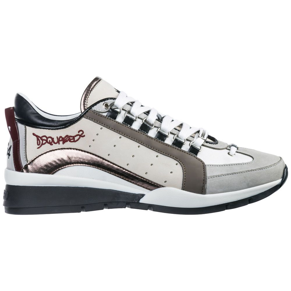 173594306726 eBay  Sponsored DSQUARED2 MEN S SHOES LEATHER TRAINERS SNEAKERS NEW 551  BEIGE ECD