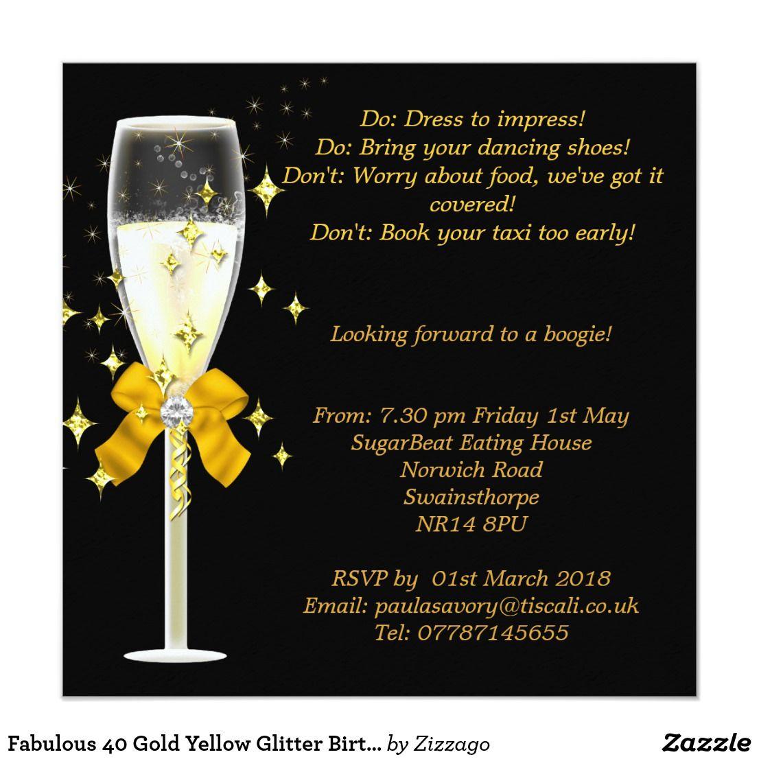 create your own invitation  zazzlecouk  glitter