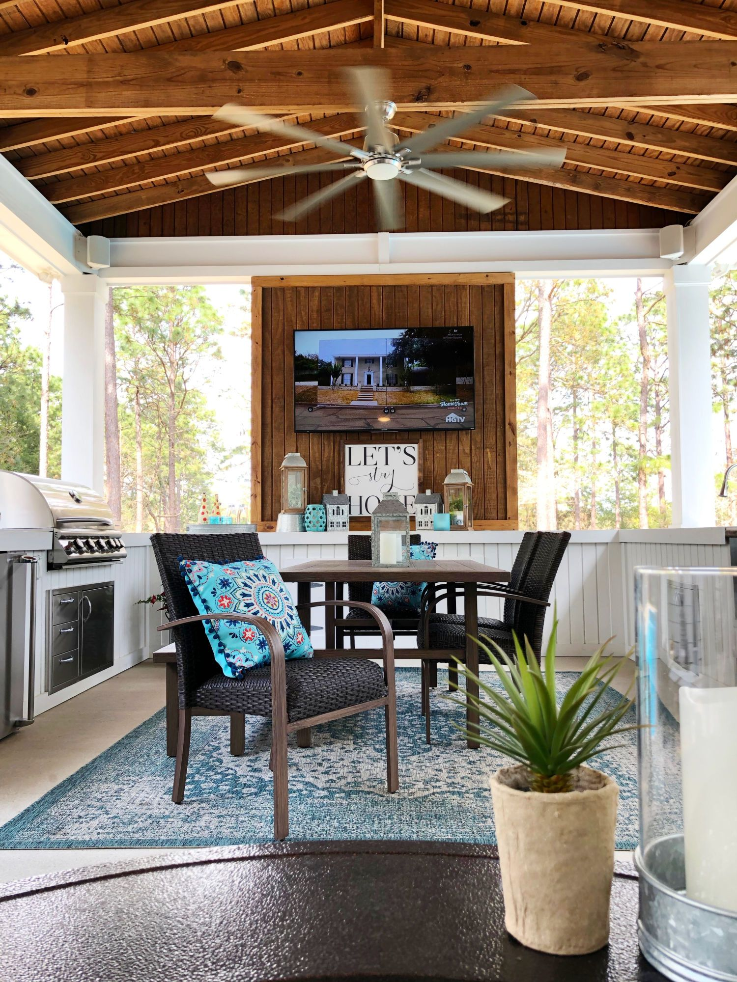 Back Porch Decorating Ideas On A Budget Savvy Apron Back Deck Decorating Deck Decorating Ideas On A Budget Outdoor Living Rooms