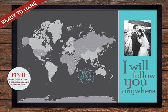 Wedding map gift push pin world map personalized 20x30 inches wedding map gift push pin world map personalized 20x30 inches vacation art travel map gift for wife gumiabroncs Images