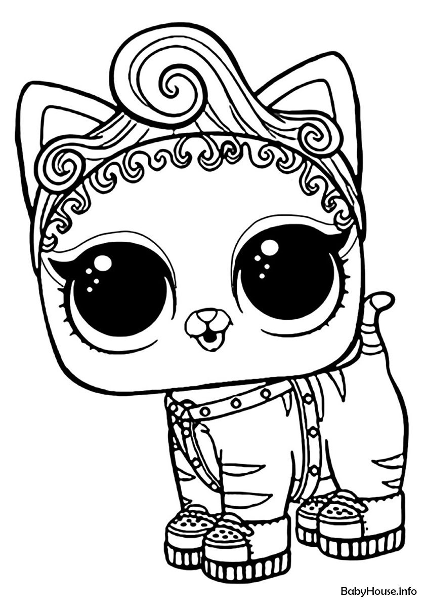 L O L Purr Baby High Quality Free Coloring From The Category L O L Pets More Printable Pictu Baby Coloring Pages Cool Coloring Pages Unicorn Coloring Pages