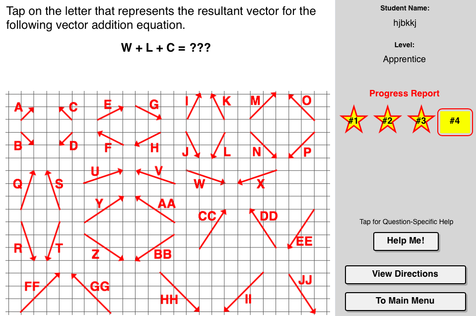 Vector Addition Concept Builder An Interactive Tool That Challenges