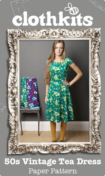 Clothkits | 50s Vintage Tea Dress | Paper Pattern | Favourite dress ...