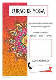 Cartel Curso De Yoga Y Terapias Alternativas Yoga Terapiasalternativas Cursos De Yoga Yoga Cursillo