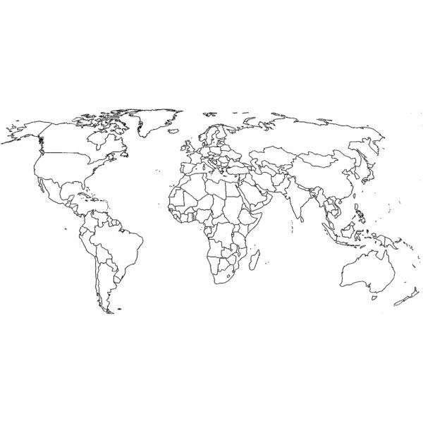 Cartina Dell Africa Da Colorare.Disegno Di Cartina Politica Mondo Da Colorare Nel 2020 Mappa Del