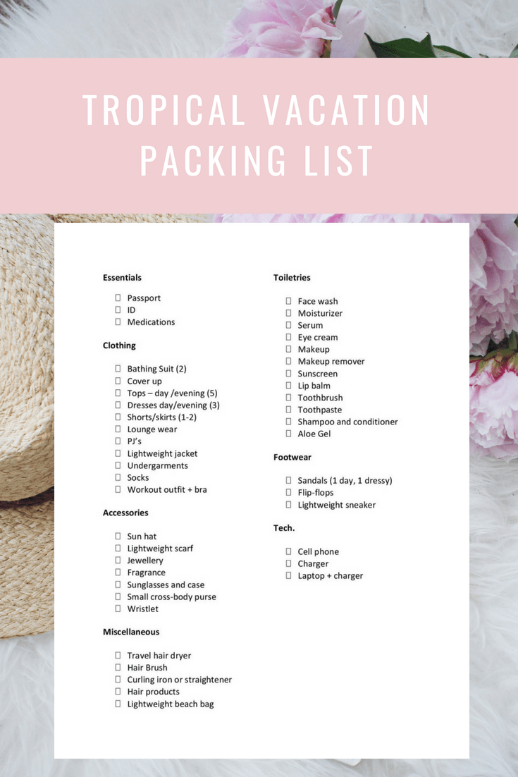 Your Ultimate Tropical Vacation Packing List - CANDICE CAMERA #ultimatepackinglist