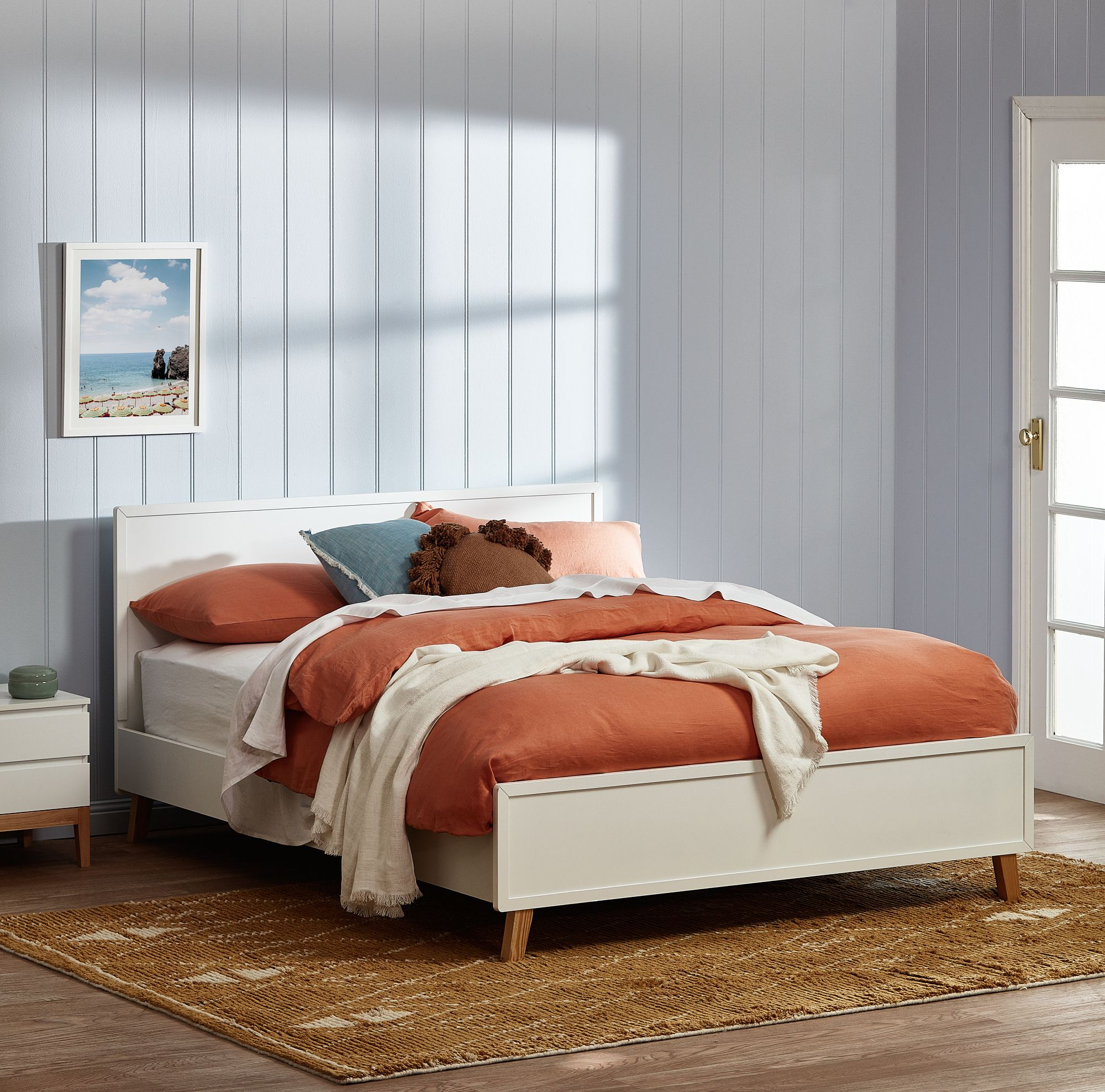 White Arctic Queen Bed Frame Bed frame, Furniture, Queen