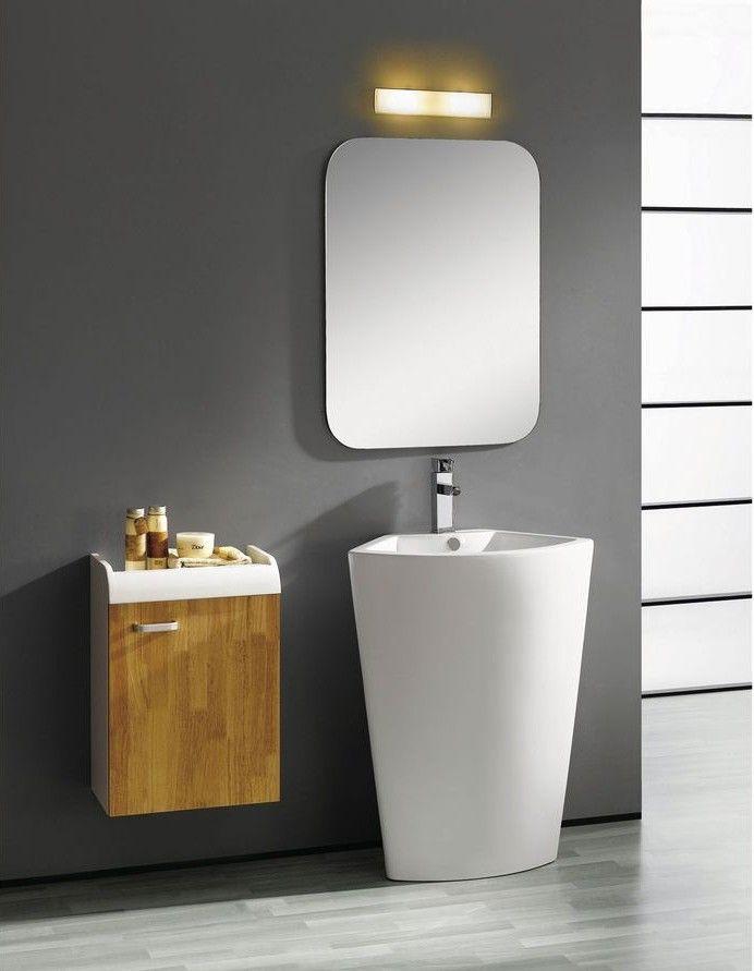 modern pedestal sink vanity pisa