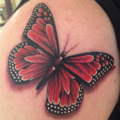 Photo of Monarch Butterfly Tattoo. Start of my half sleeve –  #