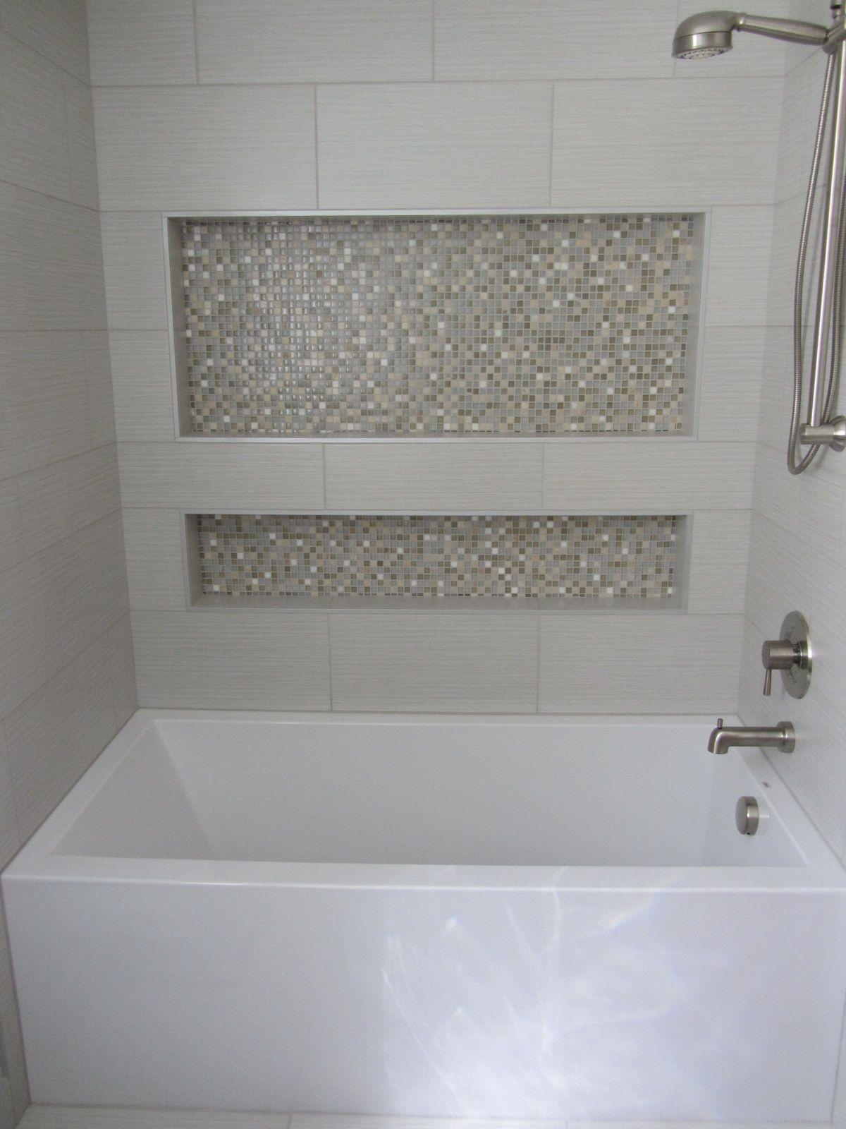 Bathroom floor wet around tub - Florida Tile Enigma Mirrored Tile In Bathroom Google Search