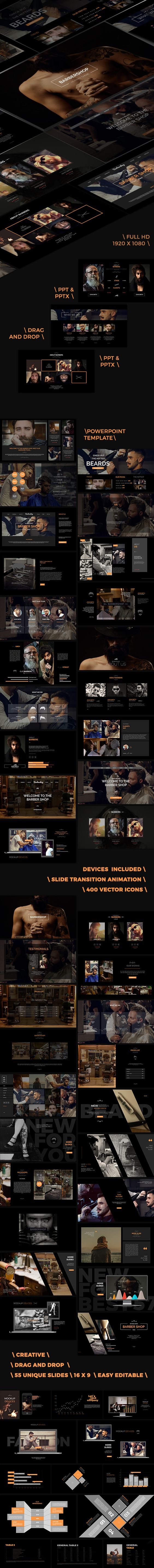 Barbershop Powerpoint Template Presentation  Barbershop And Template